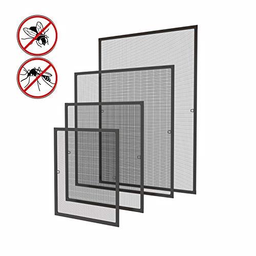 130 x 150 cm Fliegengitter Fenster Insektenschutz Fliegenschutzgitter mückengitter gitter moskitonetz Spannrahmen für Fenster mit Aluminium Rahmen ohne Bohren und Schrauben, Braun