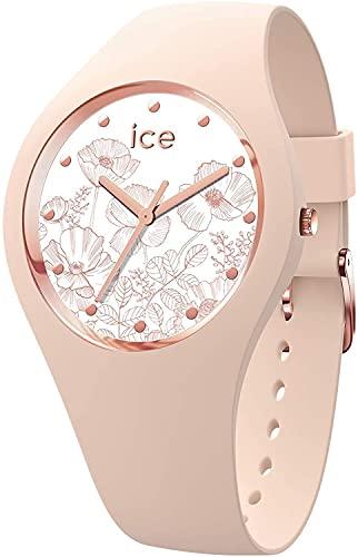ICE-WATCH ICE Flower Spring Nude - Reloj Rosa para Mujer con Correa de Silicona, 016670 (Medium)
