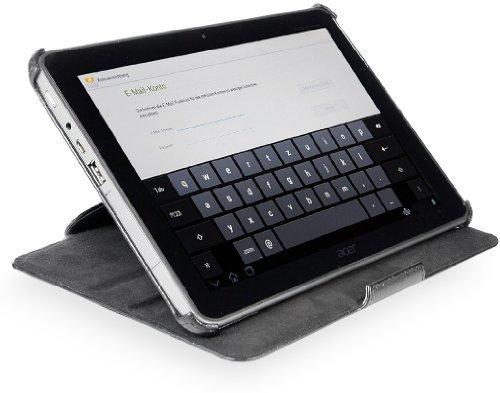 StilGut Hülle kompatibel mit Acer Iconia Tab A510/ A511 und Iconia Tab A700, schwarz