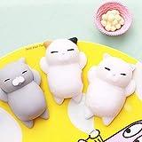 Schöne Cartoon Katze Squishy Spielzeug Stressabbau Weiche Mini Animal Squeeze Spielzeug Dekompression Heilungsspielzeug Tolles Geschenk - Weiß