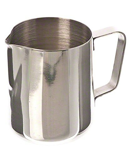 Yevison Milk Jug Milk Cup Milk Frothing Pitcher Fancy Milk Stainless Steel Coffee Frothing Tea Milk Latte Jug for CoffeeLatte Frothing Milk-150ML Durable and Useful