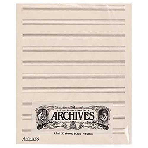 Blocs pentagramados Archives, 10 pentagramas, 50 hojas.