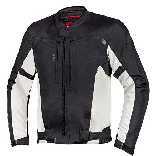 Ozone Delta IV Chaqueta de moto textil para hombre Protectores de codos y hombros de membrana 3 canales de ventilación Elementos reflectantes 4 bolsillos