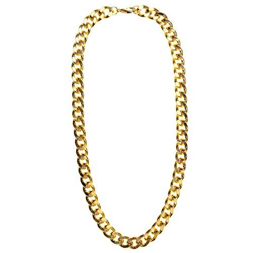 German Trendseller® - Rapper Kette Gold ┃ 81 cm ┃ Rapper ┃ Gangster ┃ USA