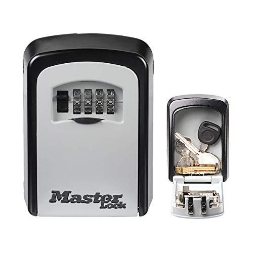 MASTER LOCK Schlüsseltresor [Medium] [Wandhalterung] [Zahlencode] - 5401EURD - Schlüsselsafe