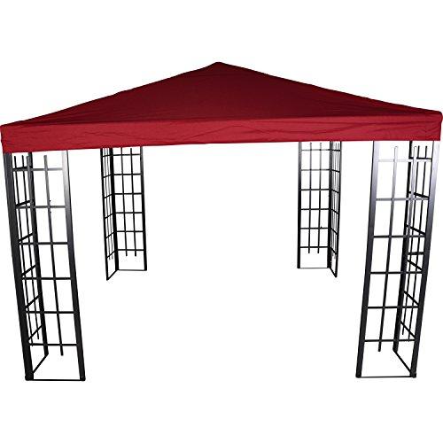 Lesli Living Pavillon Dach für Pavillon-Gestell Royal wasserabweisend 3x3m PA Coated Bordeaux