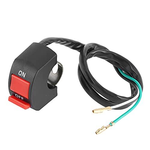 Interruptor de luz para faros delanteros de motocicleta con manillar de 22-25 mm/0.9-1.0 pulgadas
