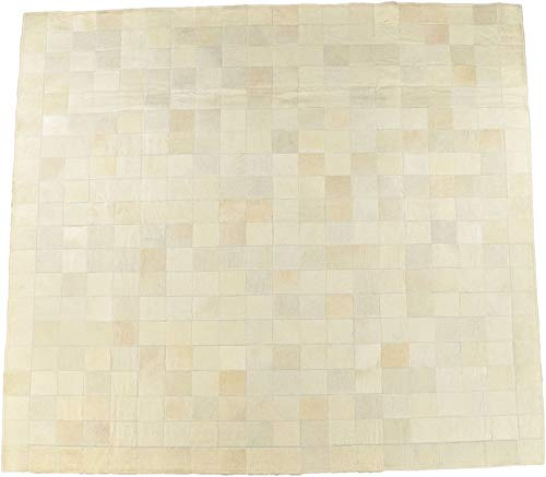 KUHFELL - Alfombra (200 x 200 cm), diseño de patchwork, col