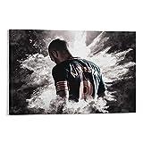 Sport-Fußball-Poster Iniesta, Wandkunst, Kunstdruck,