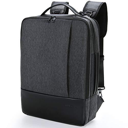 Lifewit Zaino Porta PC, Borsa Per Laptop, Borsa a Tracolla 3-in-1 Multifunzionele Borsa Messenger da 15.6Pollici Resistente all'Acqua per Ufficio/Lavoro/Università/Weekend Lavorativi,Nero