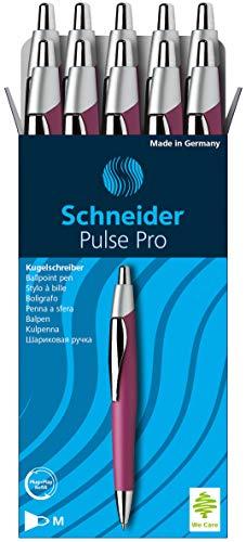 Schneider Slider Pulse Pro Ballpoint Pen, Boysenberry Barrel, Black Ink, Box of 10 (132208)