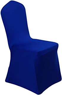 iEventStar 6 Pieces Stretch Polyester Spandex Dining Chair Cover for Wedding Banquet Party (6, Royal Blue)