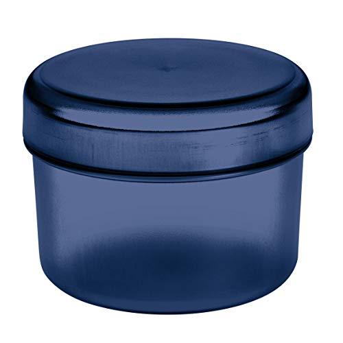 Koziol Rio Vorratsdose mit Deckel, Aufbewahrungsdose, Frischhaltedose, Kunststoff, Deep Velvet Blue, 8 cm, 3045585
