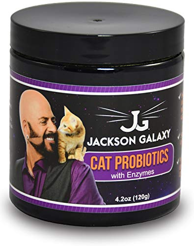 Jackson Galaxy Cat Probiotics - Best Cat Probiotics for Diarrhea, Vomiting, Gas, Allergies - Pet Probiotic Powder with Cat Digestive Enzymes - 120g