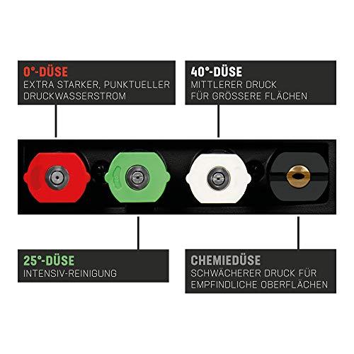 STIER Hochdruckreiniger SDR-300, 3200 W, Max. Druck 225 bar, Fördermenge 450 l/h, 5 Meter Schlauch, 5 Meter Kabel,inklusive Terassenreiniger, für Haus, Auto, Garten - 6