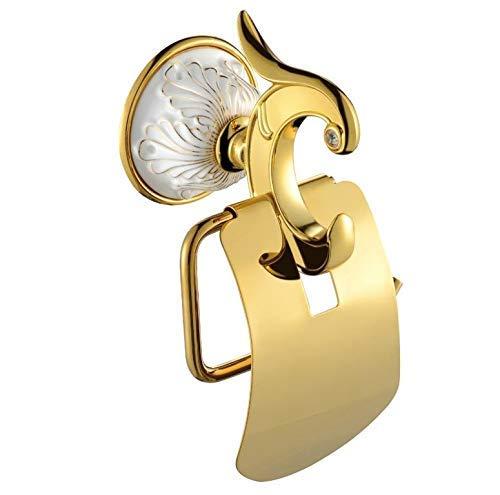CESULIS Europeo de cerámica oro titular de papel higiénico titular de rollo titular de tejido latón sólido accesorios de baño productos percha de papel organizadores/bastidores