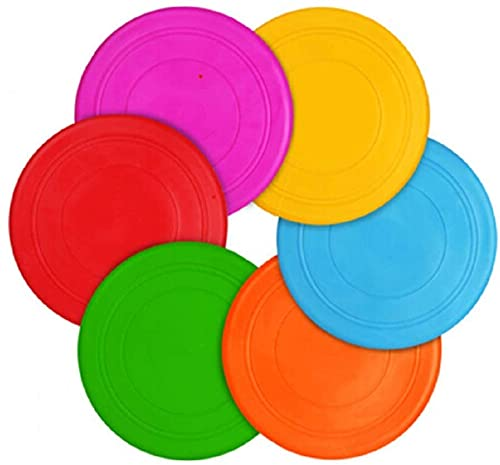 Teesun Anak-anak Flying Disc Mainan Outdoor Bermain Permainan Rumput Disk Flyer untuk TK Pengajaran Silikon Lembut Berwarna-warni 6 Pack Massal Set