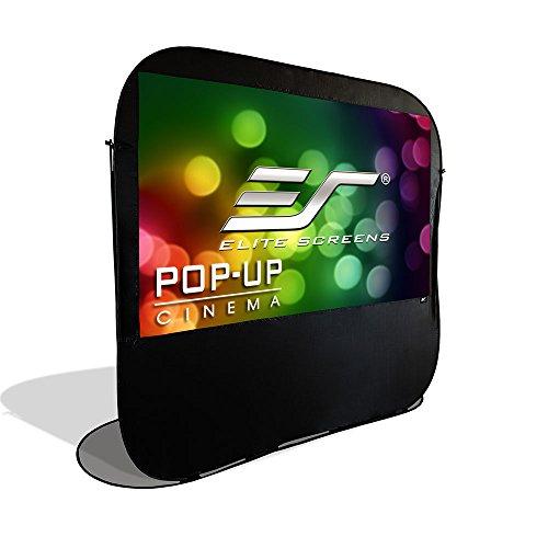 Elite Screens Pop-Up Cinema 213,4 cm 16:9 tragbarer Projektor-Leinwand für den Außenbereich, schnell zusammenklappbar, selbststehend, ultraleicht, schnell zusammenklappbar, Tragetasche