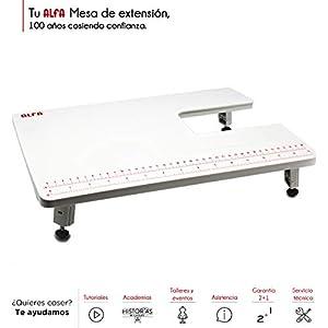 Alfa Mesa de Extensión para Máquina de Coser, Blanco, 28.5×40.5×3 cm