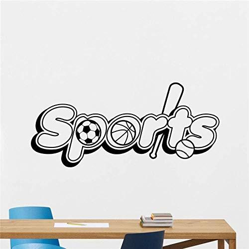 SMSDAMAI Wandtattoo Sport Logo Sport Emblem Fußball Baseball Basketball Heimtextilien Wandkunst Junge Zimmer Wandgestaltung Schlafzimmer Wandaufkleber 90X40Cm