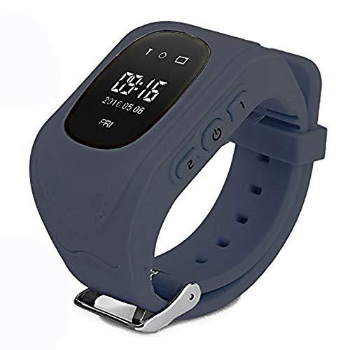 Themoemoe Q50 - Reloj Inteligente para niños y niñas, con rastreador GPS, localización de Llamadas, Monitor Remoto antipérdida, podómetro, Reloj Inteligente para iPhone y Android