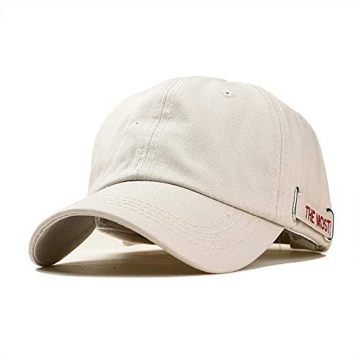 Casquette Homme Chapeau Casquette pour Hommes Broderie Lettre Bande Coton Mode Blanc Noir Casquettes De Baseball Réglable Snapback Chapeau pour Femmes Réglable Beigeredcap