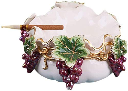 Cenicero Creatividad Creatividad Ceniza Bandeja Bin Ashtray cerámico Personalidad Sala de Estar hogar Exquisito artesanía Oficina Dormitorio Blanco 18x10cm WHLONG