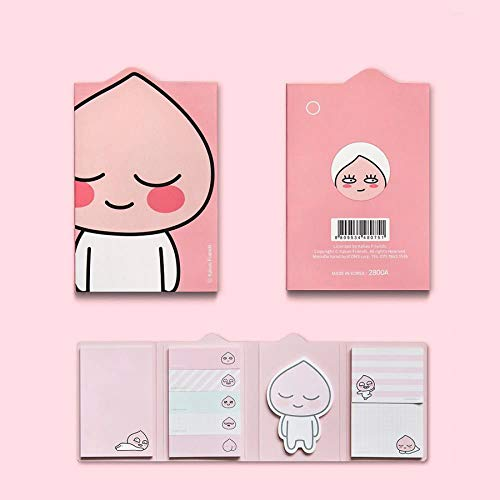 KAKAO FRIENDS 4 Sticky Memo Pad - Apeach Sticky Memo Pad