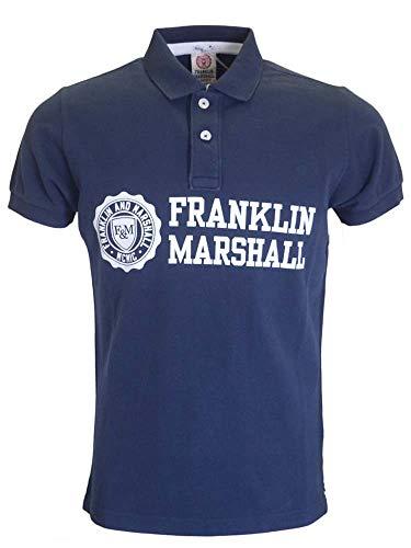 Polo Franklin Marshall Piquet Classic azul para hombre, talla S, M, L, XL, 2XL, 3XL A9/41