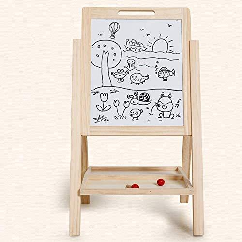 JTKDL Malbrett Holzkindermagnetdoppelseitige Zeichenbrett Jungen und Mädchen Gerüstbau Hebe Easer Schüler Lernen Schreiben Tafel