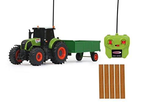RC Auto kaufen Traktor Bild 4: Jamara 403702 - RC Claas Axion 850 1:28 mit Holzanhänger inklusive Fernsteuerung*