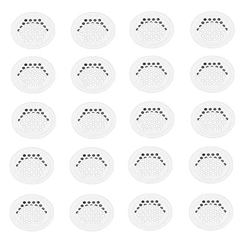 Belvanr Rejilla Ventilacion 20 Piezas Rejilla Ventilacion Horno Blanco 35mm Acero Inoxidable Rejilla de Ventilación Redonda Rejilla Ventilacion Baño Agujero de Ventilación para Gabinete Guardarropa