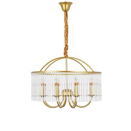 PLEASUR Gold Kronleuchter Kristalle, LED Pendelleuchte Für Kücheninsel Moderner Metal Indoor Deckenleuchte Wohnzimmer Schlafzimmer Loft E27 220V, Gold