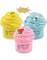 6Wcveuebuc Slime Kits 3 Pack Party Geschenken Super Zachte Stretchy en Niet Sticky DIY Boter Slijm Speelgoed voor Kids slijm 10 pack