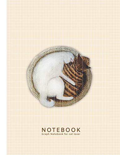 Notebook : Graph Notebook, For Cat Lover: Sleeping Cats Watercolor Cover, Quad Grid Ruled 5 squares per inch. Soft Matte Cover, 8.5*11 inch(Letter Size),100 pages.