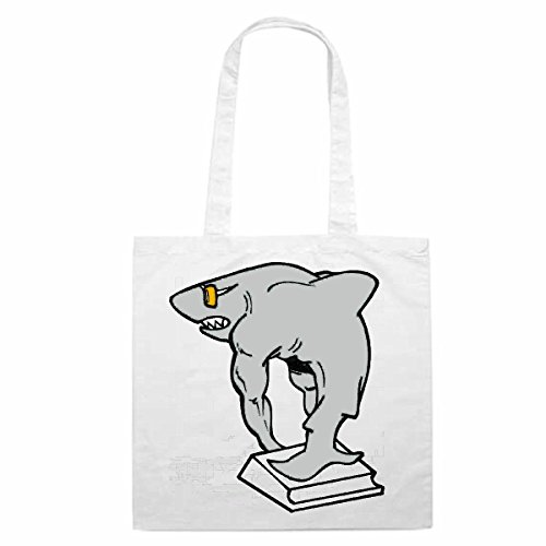 Bolso de diseño nº 12460Tiburón con buceo dibujos animados Spass FUN película de culto Serie Dibujos animados Spass FUN película de culto Serie