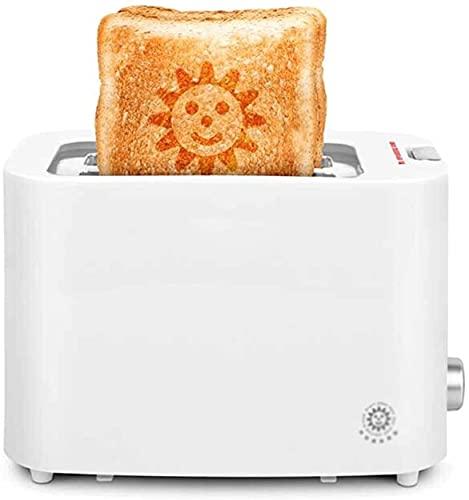 hwljxn Máquina de Pan Casa Casa Sonriente Cara Tostado Tostado Sandwich Máquina de Desayuno Amplia Slot de 6 velocidades Hornear