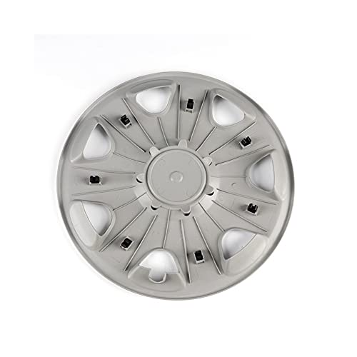 4pcs 390mm 39cm 6q0 601 147 g Cubierta del centro de la tapa del centro de la rueda del cromo El reemplazo del emblema, compatible con VW VOLKSWAGEN POLO 1.4 (Color : Black)