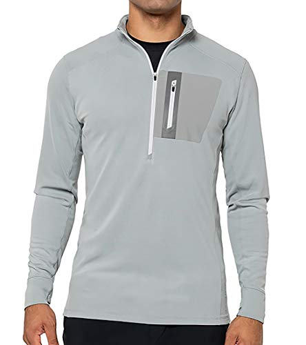 GoLite Men's Replay 1/2 Zip Active Pullover, Gull, Large