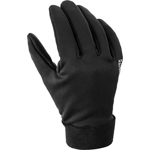 Reusch Guantes largos para motocicleta, cortavientos, para hombre, Tourer, para todo el año, plástico Negro L