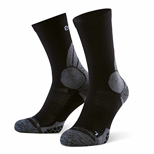 umi. Trekkingsocks, Merino, Black-Grey, 35-38