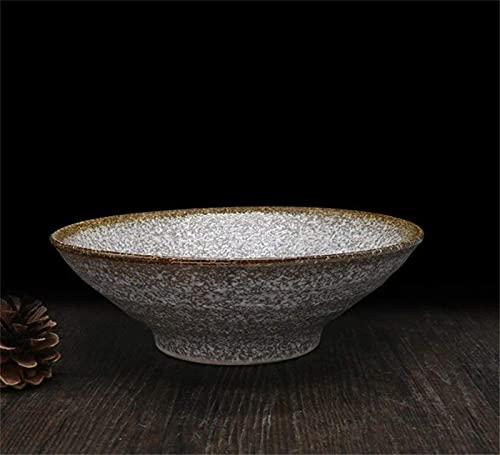 XQMY Tazón de Sopa de Ramen Retro Tazón para el hogar Vajilla de Barro Tazón de Ensalada Calibre 20.5cm