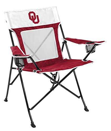 Rawlings NCAA Game Changer Large Folding Tailgating and Camping Chair, with Carrying Case (ALL TEAM OPTIONS), University of Oklahoma Sooners