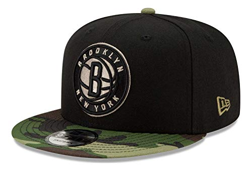 New Era - Gorra NBA Brooklyn Nets All Star Game Camo 9Fifty Snapback - Negro Negro Talla única