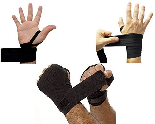 UNYBUY Elastic Hand Wraps for Boxing Punching (108-inch, 9 feet, Black)