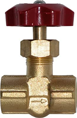 "Winters SNV Series Brass Needle Valve with ABS Plastic Handle, 1/4"" NPT Female by Winters"