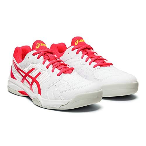 ASICS Damen Gel-Dedicate 6 Indoor Laufschuh, Weiss Laser Rosa, 35.5 EU