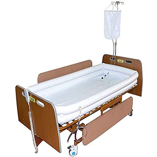 YUXINCAI PVC-Badewanne Für Erwachsene Mit Wassersack Bad Im Bett Hilfsmittel Für Behinderte Ältere Bettlägerige Patienten Leicht Im Bett Aufblasbares Badewannen-Duschsystem