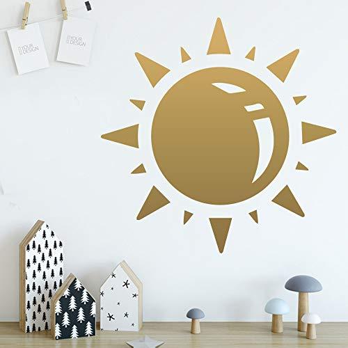 Zon Viny Muurstickers Home Decor voor Jongens Slaapkamer Kwekerij Decoratie Muurstickers-in Muurstickers van Home Garden XL 58cm X 58cm Kleur: wit