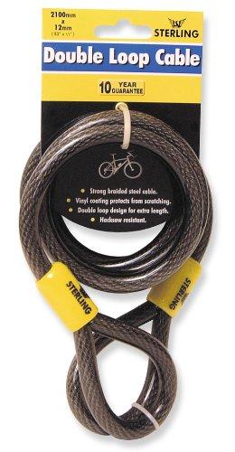 Sterling dubbele lus stalen kabel Dubbele lus Vinyl Coated 12mm x 2100mm Zwart
